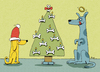 Cartoon: doggy x-mas (small) by BiSch tagged weihnachten,christmas,hunde,dogs,knochen,bone,weihnachtsbaum