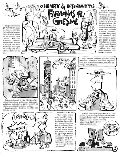 Cartoon: Comic The Cop and the Anthem (medium) by Kestutis tagged comic,usa,newyork,lithuania,kestutis,the