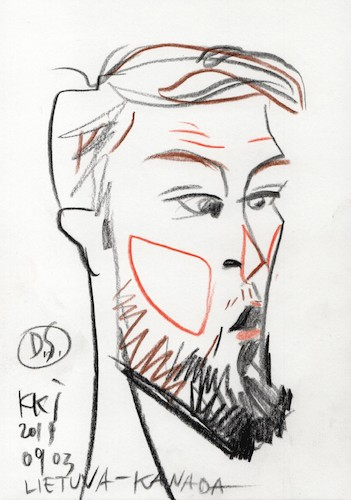 Cartoon: Domantas Sabonis (medium) by Kestutis tagged sketch,china,fiba,basketbal,lworld,cup,episode,kestutis,lithuania