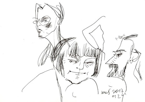 Cartoon: Sketch. Artists and model (medium) by Kestutis tagged sketch,artists,and,model,art,kunst,kestutis,lithuania