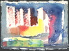 Cartoon: City with squares (small) by Kestutis tagged dada,postcard,kestutis,lithuania,nature,city,watercolor