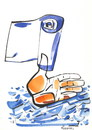 Cartoon: DUCK. WASH AND DRY (small) by Kestutis tagged duck,wash,dry,cartoon,contest