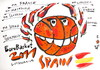 Cartoon: EuroBasket Champions - Spain (small) by Kestutis tagged basketball,sports,spain,champions,bitter,pepper