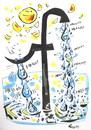 Cartoon: FACEBOOK (small) by Kestutis tagged facebook ocean drop tropfen hello sun sonne infinity unendlichkeit