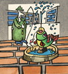 Cartoon: FOUNTAIN (small) by Kestutis tagged angler fountain city stadt fish summer kestutis lithuania