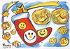 Cartoon: Golden smile - gold coin (small) by Kestutis tagged smile gold coin kestutis weihnachten christmas santa claus december