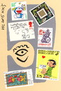 Cartoon: Humor Collection. Letter. Brief (small) by Kestutis tagged dada,postcard,humor,collection,letter,brief,stamp,kestutis,lithuania,briefmarke