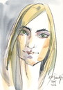 Cartoon: Indre (small) by Kestutis tagged portrait,cartoon,kestutis,lithuania,sketch