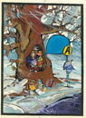 Cartoon: Kolkhoz bus stop. Winter (small) by Kestutis tagged winter,tree,kestutis,sluota,lithuania,kolkhoz