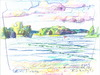 Cartoon: Lithuanian lakes (small) by Kestutis tagged lithuania lakes sketch watercolor summer nature kestutis
