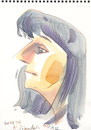Cartoon: Loreta (small) by Kestutis tagged aquarell,watercolor,sketch,kestutis,lithuania