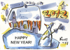 Cartoon: MAY YOUR WISHES COME TRUE! (small) by Kestutis tagged happy new year 2012 snowman schneemann carrot