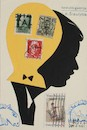 Cartoon: My DADA collection 2 (small) by Kestutis tagged dada,collection,postcard,mail,art,kunst,kestutis,lithuania,postage,stamp