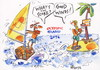 Cartoon: OLYMPIC ISLAND. Basketball. (small) by Kestutis tagged windsurfing,basketball,london,summer,ocean,palm,sport,2012,olympics,kestutis,siaulytis,lithuania,desert,island