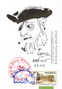 Cartoon: Pirat Gdanski (small) by Kestutis tagged dada postcard sketch pirate kestutis lithuania gdansk