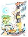 Cartoon: Pizza... (small) by Kestutis tagged pizzapitch,pizza,italy,kestutis,summer,travel,cook