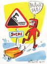 Cartoon: Road sign - Black Sea (small) by Kestutis tagged black sea winter olympic sochi sports 2014 luge kestutis lithuania road sign