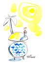 Cartoon: Summer time (small) by Kestutis tagged kestutis lithuania summer time meer urlaub sea island vacations