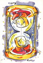 Cartoon: TIME. ZEIT. LAIKAS (small) by Kestutis tagged happy,new,year,time,zeit,hourglass,sanduhr
