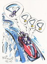 Cartoon: Winter Olympic. Bobsleigh (small) by Kestutis tagged bobsleigh,winter,olympic,sochi,2014,sports,medals,parachute,kestutis,lithuania
