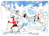 Cartoon: Winter Olympic. Nordic combined. (small) by Kestutis tagged winter,olympic,games,sochi,2014,kestutis,lithuania,sauna
