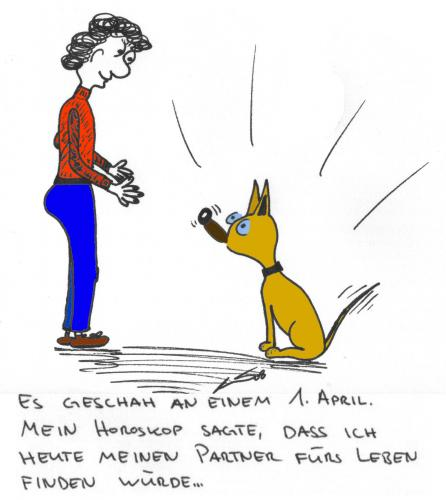 Cartoon: Partner (medium) by al_sub tagged horoskop,partner,lebenspartner,hund,1st,april