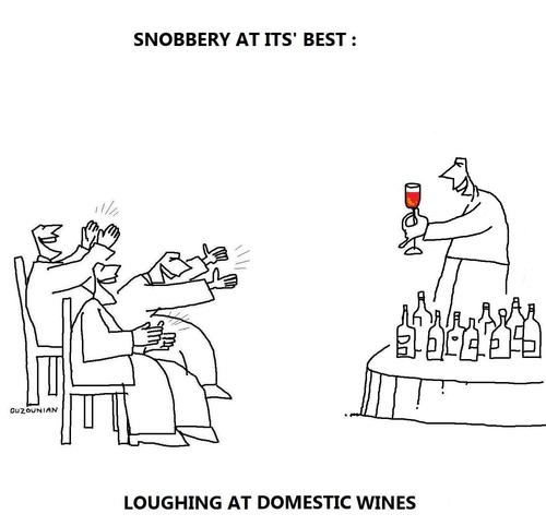 Cartoon: snobbery and stuff (medium) by ouzounian tagged snobbery,snobs,wine
