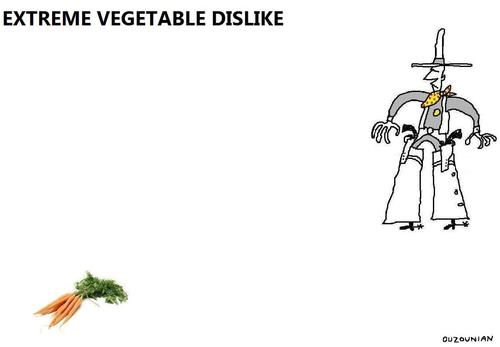 Cartoon: vegetables and stuff (medium) by ouzounian tagged vegetables,diet,nutrition,food,cowboys,guns