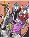 Cartoon: sunday mass (small) by odinelpierrejunior tagged drawing,images,design,paintings,figures,church