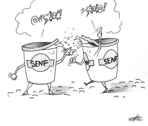 Cartoon: senf (medium) by James tagged cartoon,toon,toons,senf,geben,character