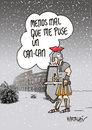 Cartoon: NIEVE EN ROMA (small) by HCATALAN tagged nieve,snow,coliseo,gladiador,frio