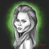 Cartoon: Faye Dunaway (small) by Dante tagged celebrity,actress,female,model,faye,dunaway,caricature,famous,babe