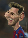 Cartoon: Lionel Andres Leo Messi (small) by areztoon tagged caricature,karikatur,fcb,barca,barcelona,argentina