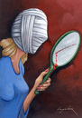Cartoon: Plastic Surgery (small) by luka tagged woman