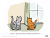Cartoon: A Little Advice (small) by a zillion dollars comics tagged pets,cats,animals,philosophy