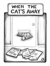Cartoon: Cartoon 3 (small) by a zillion dollars comics tagged cats,vacation,travel,catalog,consumerism,advertising