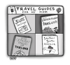 Cartoon: Lovely Planet Guides (small) by a zillion dollars comics tagged travel,tourism,parents,mom,family,world,explore,adventure