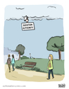 Cartoon: Sign from... (small) by a zillion dollars comics tagged religion,culture,society,philosophy