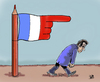 Cartoon: EXIT (small) by Vejo tagged exit,sarko,france,elections