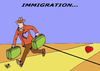 Cartoon: IMMIGRATION... (small) by Vejo tagged immigration,people,better,future