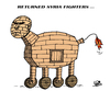 Cartoon: RETURNED SYRIA FIGHTERS... (small) by Vejo tagged syria,brussels,attack,victems,terrorism
