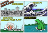 Cartoon: DISASTER STRIKES JAPAN (small) by Alan tagged disaster,japan,tsunami,wave,welle,kanagawa,godzilla,earthquake,fukushima,explosion,nuclear,power,katastrophe