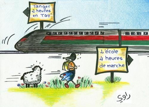 """Résultat de recherche d'images pour """"caricatures du TGV MAROC"""""""
