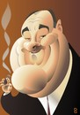 Cartoon: James Gandolfini - Tony Soprano (small) by spot_on_george tagged james gandolfini sopranos caricature
