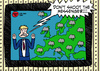 Cartoon: blame it on the weatherman (small) by elke lichtmann tagged weatherman,cloud,rain,summer,forecast,weather,cold