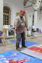 Cartoon: My action in painting (small) by shefqetemini tagged kunstenaar