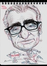 Cartoon: Caricature of Martin Scorsese (small) by McDermott tagged caricature,martinscorsese,director,taxiedriver
