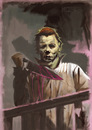 Cartoon: Illustration of Micheal Myers (small) by McDermott tagged micheal myers halloween movies horror mcdermott robzombie johncarpenter