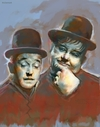 Cartoon: Laurel and Hardy Famous Comedian (small) by McDermott tagged laurelan hardy famous comedian comedy tv