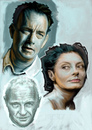 Cartoon: Tom Hanks - Hopkins - Sarandon (small) by McDermott tagged tomhanks,hopkins,sarandon,actors,movies,mcdermott